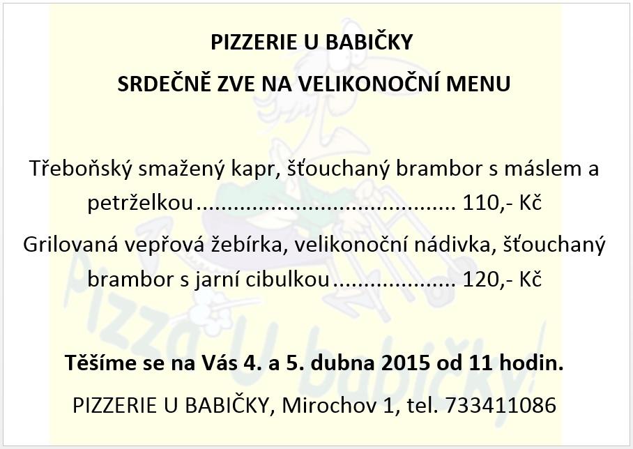velikonocni menu 2015